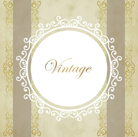 antique wallpaper: Vintage vector background Illustration