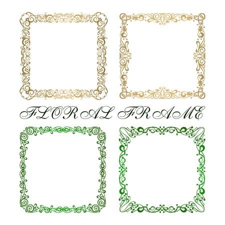 simple border: Calligraphy ornamental decorative frame vector