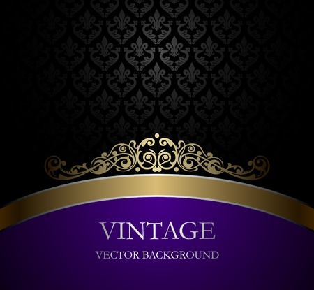 purple swirl: Vintage vector background Illustration