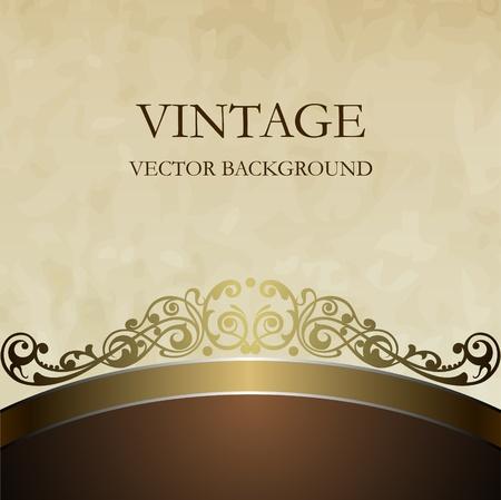 purple silk: Vector de fondo antiguo en el estilo de muebles antiguos