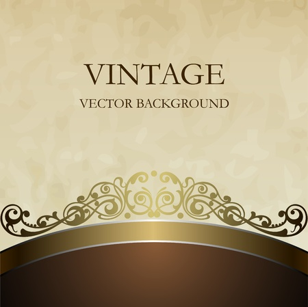 Vintage vector background in style of ancient furniture Vector