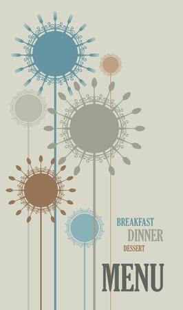 Menu cover vector design Ilustração