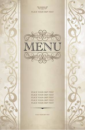 Menu cover vector design Stock Vector - 13121047