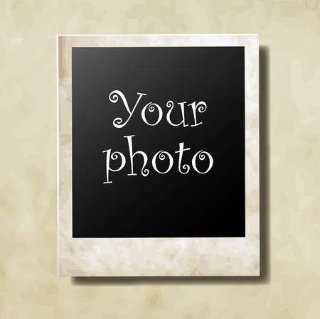 Photo card for your photo vector Vector
