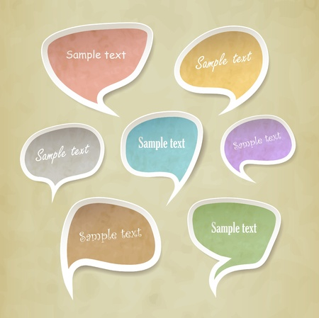 speech bubbles vector set Vector