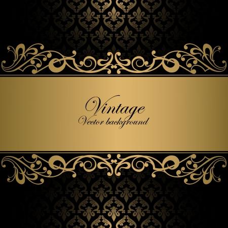 barok ornament: Vintage achtergrond Stock Illustratie