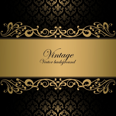 gold fabric: Vintage background Illustration