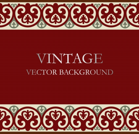 rasterized: Vintage background Illustration