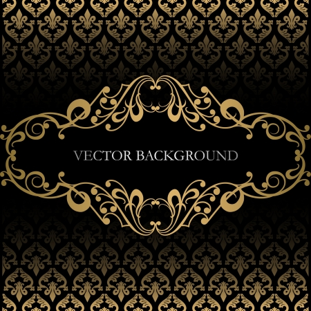 baroque background: Vintage background Illustration