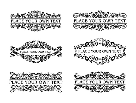 ornamental scroll: Vintage frames Illustration