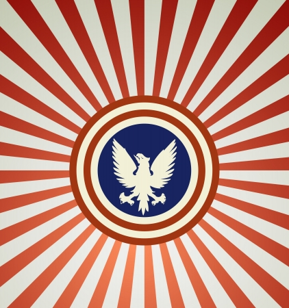 USA symbolic on grunge background vector Vector
