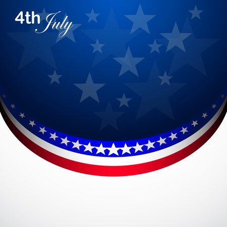 American Flag for Independence Day, vector background Stock Vector - 14064283