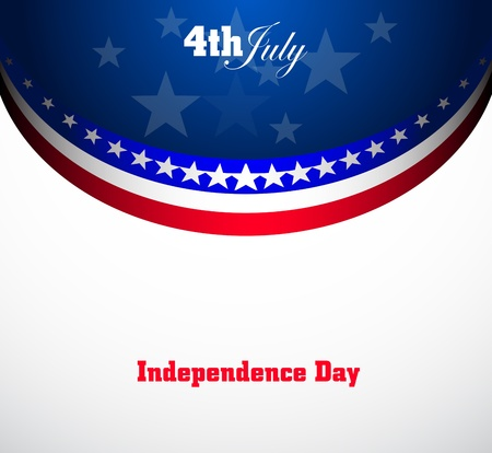 American Flag for Independence Day, vector background Stock Vector - 14064268