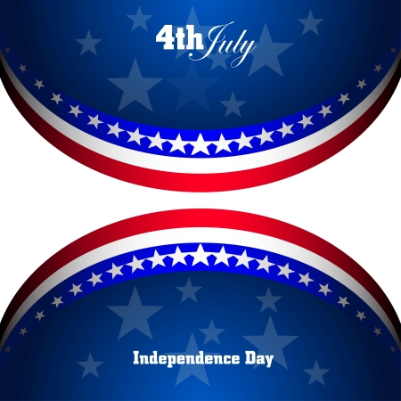 American Flag for Independence Day, vector background Vector