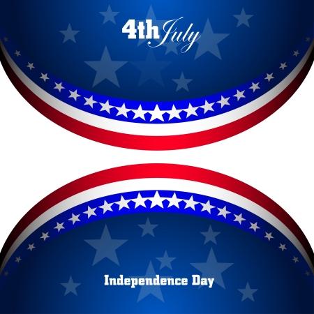 bandera estados unidos: Bandera americana para el Día de la Independencia, de vectores de fondo