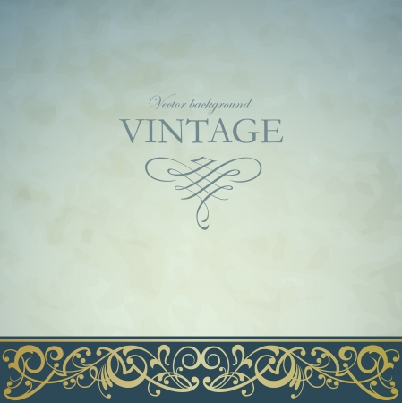 elegant: Vintage vector background Illustration