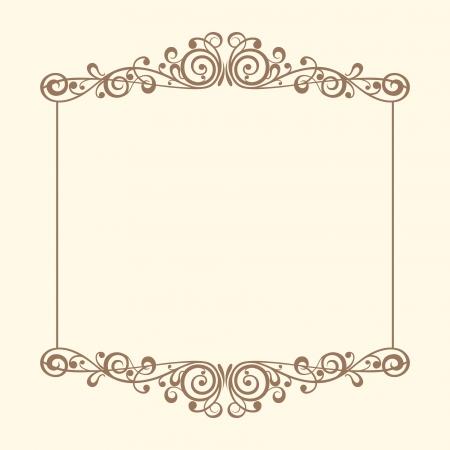 Vintage frames vector Illustration