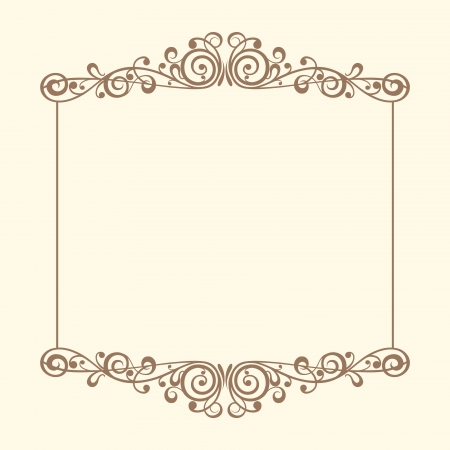 marriage certificate: Vintage frames vector Illustration