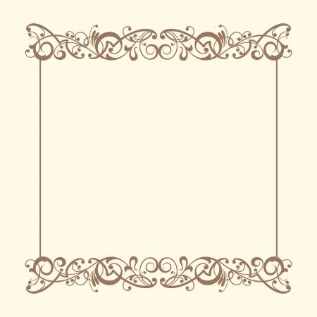 page borders: Vintage frames vector Illustration