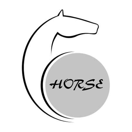 Horse symbol vector Vector
