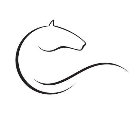 caballos negros: Caballo simbolo vector