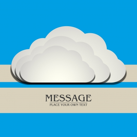 Cloud Background Vector abstract design Vector