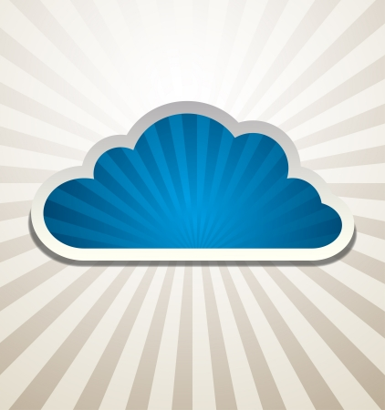 cloud hosting: Cloud Background Vector abstract design