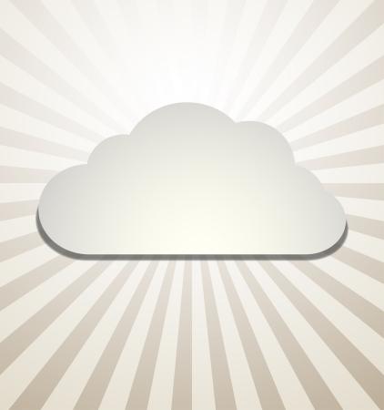 Cloud Background Vector abstract design Stock Vector - 15062958