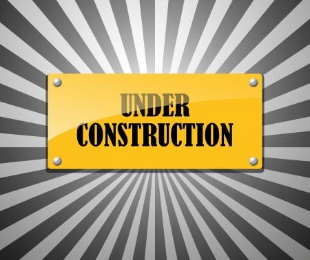 metal construction: Under construction abstract vector illustration Illustration
