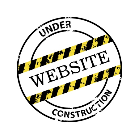 Under construction abstract stamp Vector