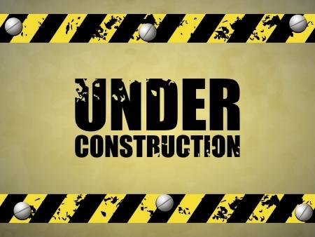 Under construction abstract  illustration Vector