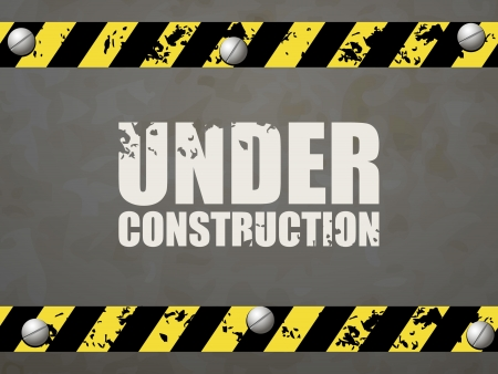 Under construction abstract illustration Vector