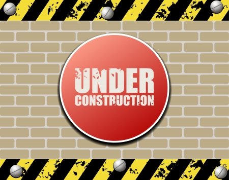 Under construction abstract illustration Stock Vector - 15157170