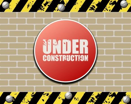 road safety: Under construction abstract illustration Illustration