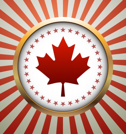 patriotic border: Canada Day vector background