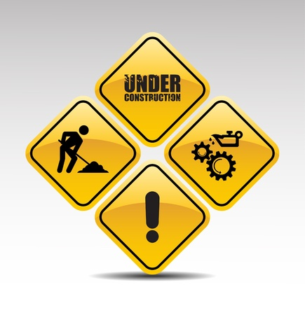 safety at work: Under construction abstract vector illustration Illustration