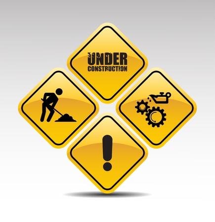 Under construction abstracte vector illustratie