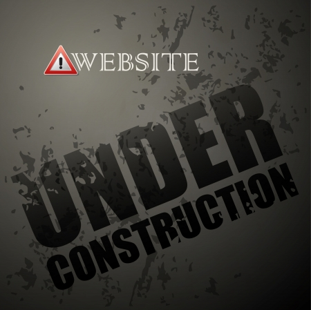 work in progress: Under construction abstract vector illustration Illustration