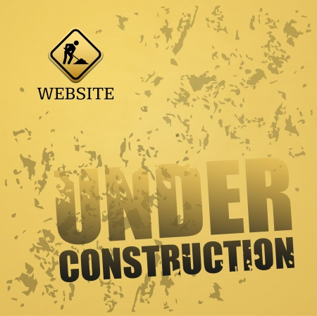 web page under construction: Under construction abstract vector illustration Illustration