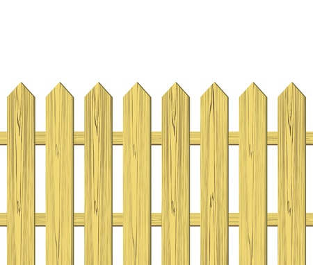 Wooden fence vector illustration Vector