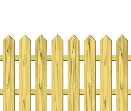 picket: Wooden fence vector illustration Illustration