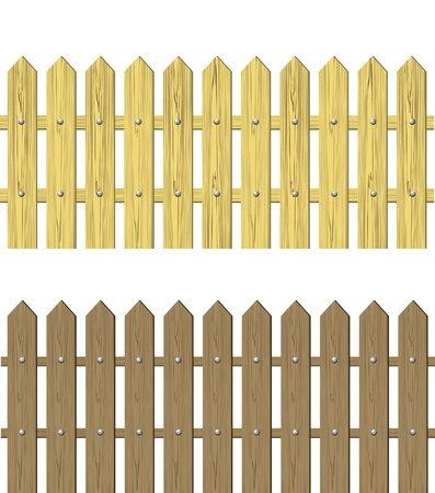 Wooden fence vector illustration Stock Vector - 15466714