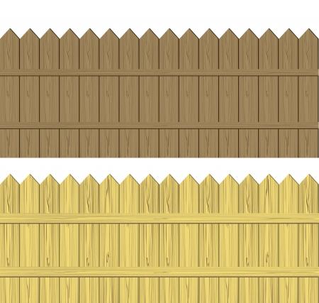 Wooden fence vector illustration Vector