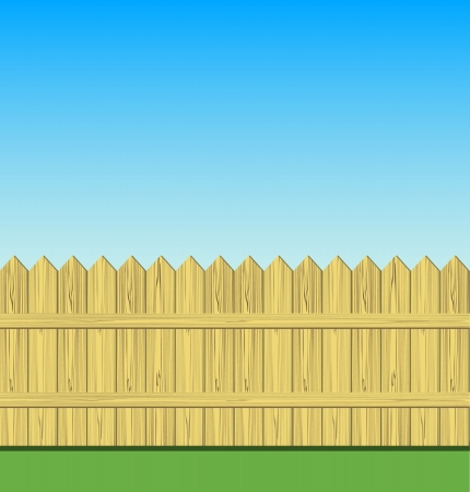 Wooden fence illustration Stock Vector - 15637375