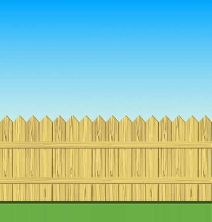 picket fence: Wooden fence illustration Illustration
