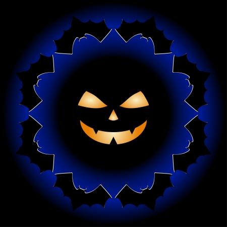 Halloween background design silhouette Vector