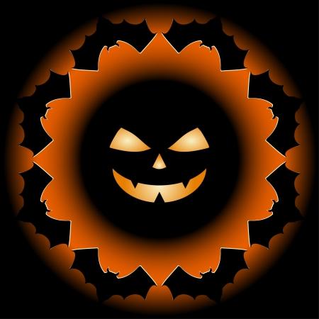 Halloween background design silhouette Stock Vector - 15637368