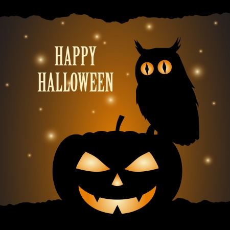Halloween background design silhouette Vector