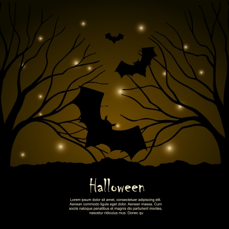 Halloween background  design silhouette Stock Vector - 16103338