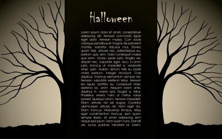 Halloween background design silhouette Stock Vector - 16103353